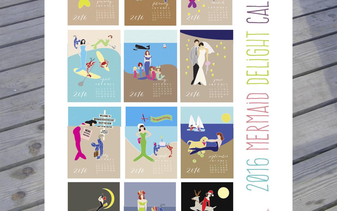 2016 Mermaid Delight Calendar
